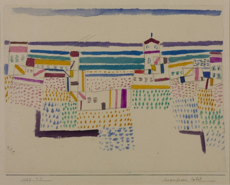 1927 Seaside Resort in the South of France II [Paul Klee]